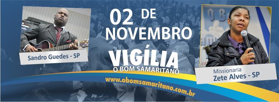 Vigília do Bom Samaritano será dia 02 de novembro